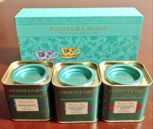 Fortnum & Mason tea trio (Royal Blend, Earl Grey Classic, Afternoon Blend) - $26