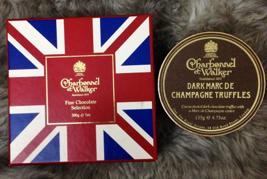 Charbonnel et Walker Fine Chocolates and Dark Marc de Champagne Truffles